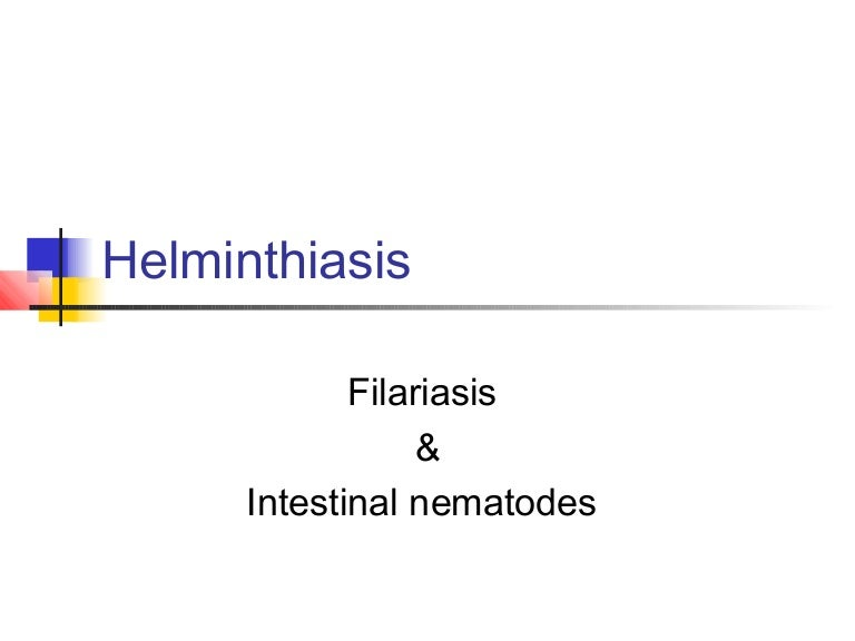 A helminthiasis megelőzésének eszközei